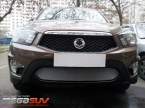Решетка бампера Ssang Yong Actyon Sport chrome